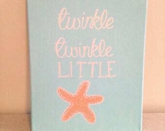 Twinkle Twinkle Starfish Nursery Sign