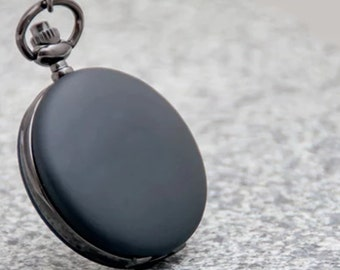 1pcs 40mmx40mm Black color pocket watch charms pendant