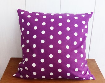Cushion cover 40 x 40 cm grounds purple pea
