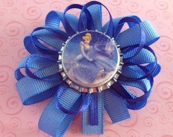 Disney Princess themed Bottlecap Hair Bow- Cinderella & Sleeping Beauty