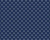 Riley Blake Swiss Dot Fabric/Navy and White/Polka Dot/Cotton Sewing Material/Quilting, Clothing, Apron, Craft/Fat Quarter, Half Yard, 1 Yard