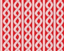 Blend Braid Fabric, Basic Red and White, Cotton Sewing Material, Quilting, Clothing, Craft, Fat Quarter, Half, or  By the Yard