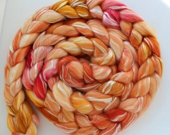 Merino Tencel Top Roving - JOSÉPHINE - Hand dyed 100 grams