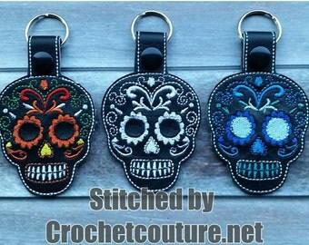 Dia De Los Muertos-Day of the Dead Sugar Skull Key Chains