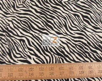 100% Cotton Fabric By Windham Fabrics - Jungle Minies Zebra Stripes - Sold By The Yard (FH-2402)