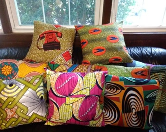 Ankara pillow case -double sided choose 1