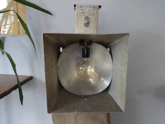 Civil Defence Cold War Vintage Lamp