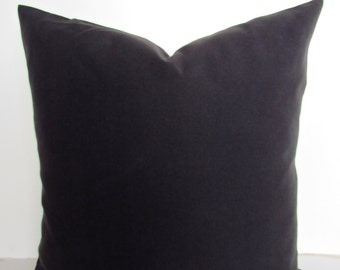 BLACK PILLOW Black Throw Pillow Covers Solid Black Throw Pillows Black pillow Covers 16x16 18 20 .All Sizes. home and Living Home Decor