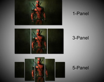 Framed Deadpool Merc With A Mouth Marvel Comic Super Hero Wall Canvas Art - Ready to Hang