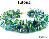 Beading Tutorial Pattern Bracelet - Fringe Stitch - Simple Bead Patterns - Bugle Lei #18347