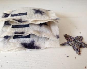 Organic Lavender sachet - Set of 3 - Maison Scotch fabric - scented