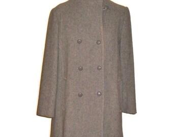 Vintage 60's gray wool peacoat