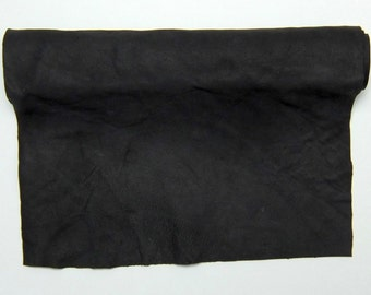 Black Tanned Deerskin Leather, Perfect for Handbags, Garment, Leather Crafts, Deerskin Project Pieces, Craft Piece, Leather Pieces