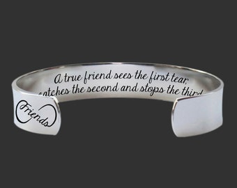 Bridesmaid Gifts | Gift for a Friend | Gifts for Friends | Best Friend Gifts | A True Friend... Custom Personalized Bracelet Korena Loves