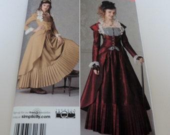 14 to 22 Uncut Victorian Halloween Costume Pattern Simplicity 2172