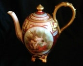 Antique Royal Vienna style coffee pot hand painted