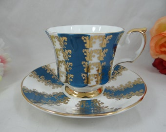 1960s Vintage Elizabethan English Bone China Teacup Footed English Teacup and Saucer Outstanding English Tea cup