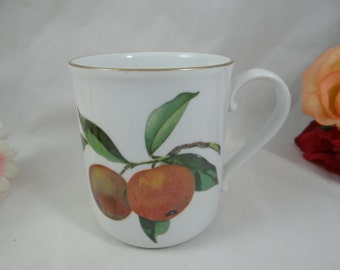 Vintage Royal Worcester Evesham Gold Coffee Mugs - 6 Available