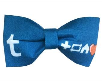 Tumblr Dash Inspired Hair Bow or Bow Tie Cute Internet Fabric Bow