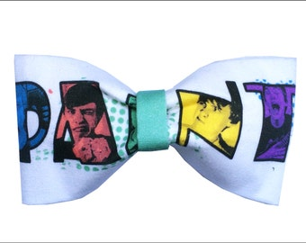 Jon Cozart Inspired Paint YouTube Hair Bow or Bow Tie Internet Fabric Bow