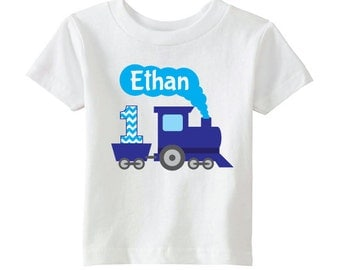 Train Birthday Shirt - Birthday Boy Shirt - Personalize with Name and Age