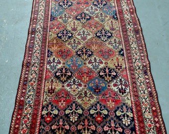 Persian Rug - 1930s Antique Hand-Knotted Malayer Persian Rug (3291)