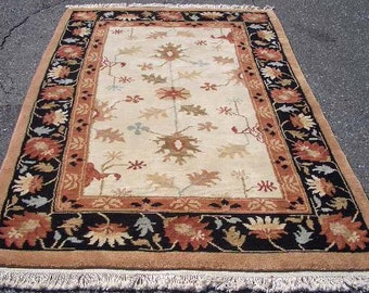 1990s Hand-Knotted 5.5' x 8.5' Tibetan Style Rug (3176)