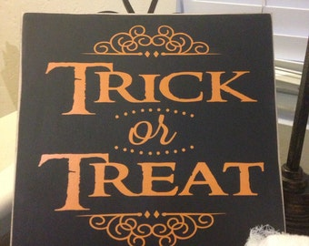 Trick or Treat Sign // Halloween Sign