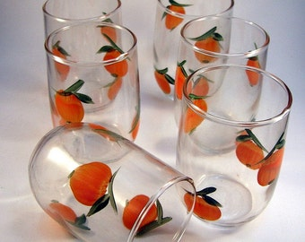Vintage Orange Juice Carafe Set