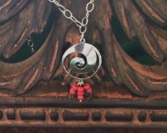 Tribal swirl necklace