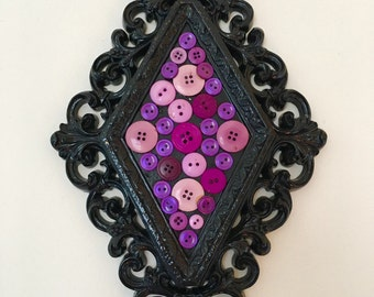 Purple Button Wall Hanging Decor