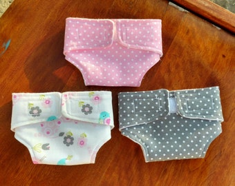 Doll Diapers, Baby Doll Diaper set, pretend play