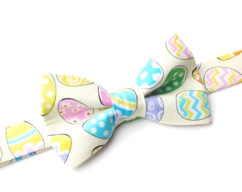 Bow Tie - Yellow Easter Eggs Bowtie
