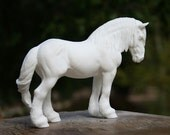 Ardennes stallion UNPAINTED Resin Model Horse Sculpture Figurine Kit Blank Unfinished DIY Paint it Yourself Gift for Horse Lover