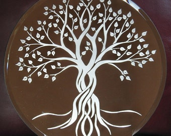 Tree of Life Acid Etched Mirror