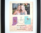 Christmas Gifts For Mom, Mothers Day Gift Mother Daughter Gift Mother Daughter Map Personalized Mothers Day Gifts For Mom Daughter Custom