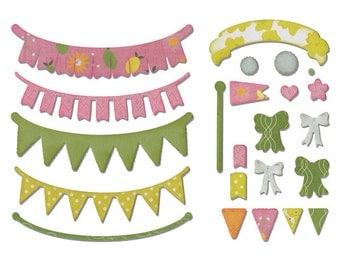 Sizzix - Thinlits Die Set 24PK - Banners  Adjustable Length by Rachael Bright
