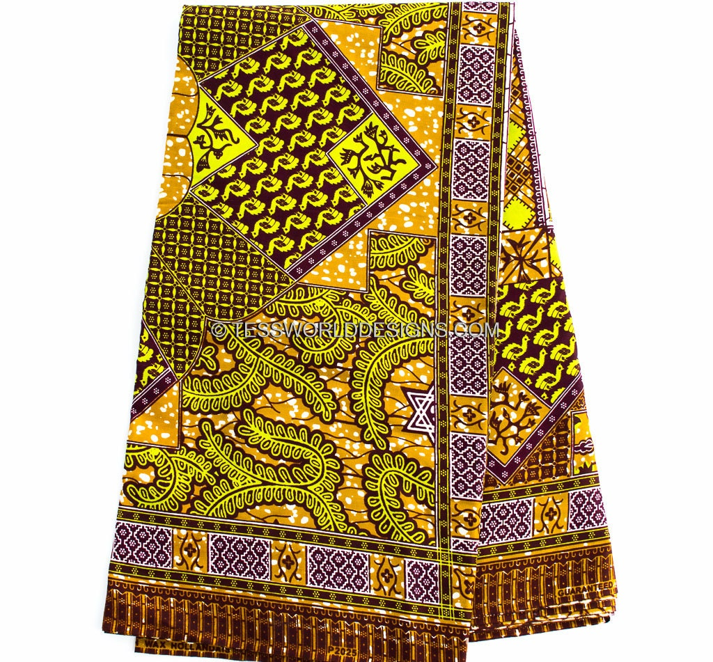Clearance sale brown ankara clothing fabric sold per yard for Clothing materials for sale