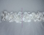 One of a Kind (27) Single Layer First Holy Communion Veil on Comb, White