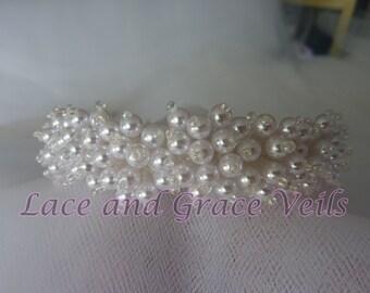 First Communion Pearl Bun Wrap