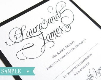 Simple Elegance Wedding Stationery SAMPLE