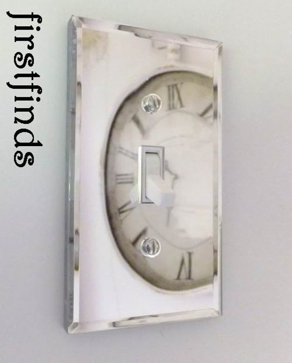 Items Similar To Mirrored Light Switch Plate Cover Electrical Cottage Decor Plastic Metal Wall