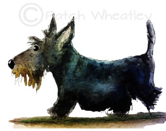 Scottie Dog Art Print Scottish Terrier #93