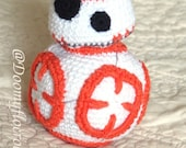 Droid BB8 amigurumi cotton crocheted toy