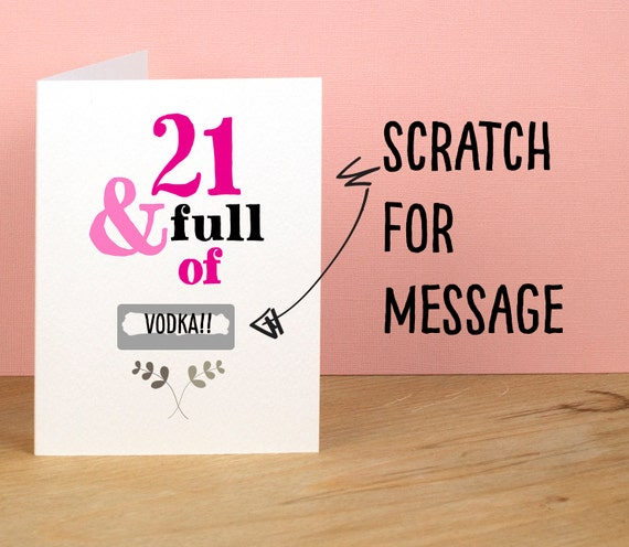21st Birthday Card 21 and Full of Rude Sarcastic Humorous – Funny 21st Birthday Card Messages