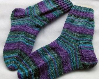 Hand Knit Socks  for Women UK 5-7, US 7-9
