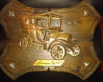 Rare Limousine Fiat 1911 plaque