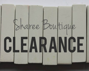 CLEARANCE - 8 HAIR CHALKS - Temporary Color Pastels, Shades of White