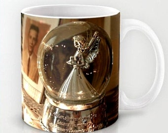 When Someone Becomes a Memory, the Memory Becomes a Treasure- Memory Angel Mug or Pillow Cover