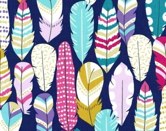 Plucked in Midnite Metallic - Arrow Flight collection by Michael Miller fabric